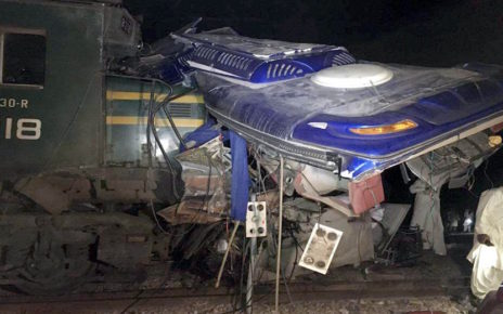 Train-bus collision killed 20, injured several others near Rohri railway station