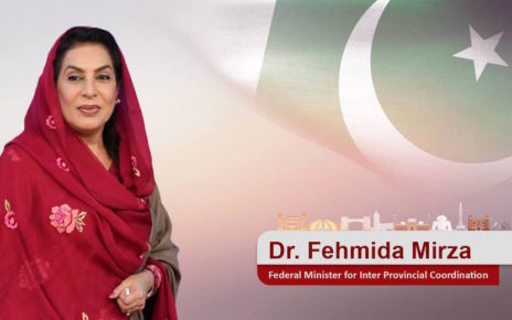 Cooperative federalism is a must in Pakistan at this moment of urgency: Dr Fehmida Mirza