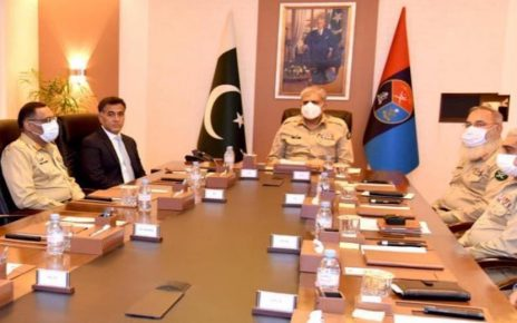 COAS briefed on security situation during ISI headquarters visit
