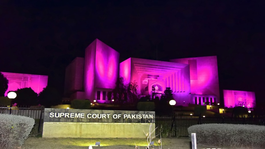 Supreme Court turns pink in support of Pink Ribbon
